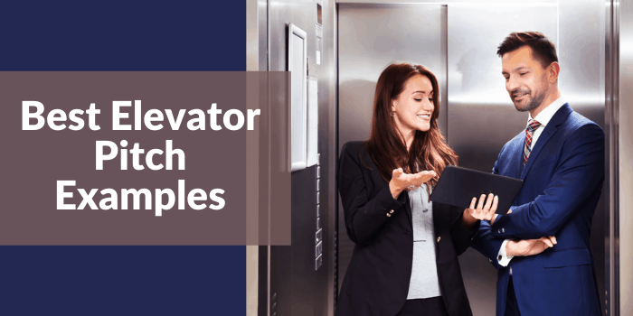 Best Elevator Pitch Examples